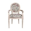 Derry's Louis Round Back Floral Carver Dining Chair