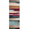 World Rug Gallery Loft Blue/Red Area Rug
