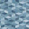 EcoWallpaper Soft Surface 10.05m L x 53cm W Jeans Cube Roll Wallpaper