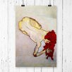 Big Box Art 'Wire and Paint Study' by Egon Schiele Painting Print