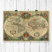 Big Box Art Vintage World Map by Henricus Hondius Graphic Art