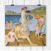 """Big Box Art Wandbild """"Female Bathers"""" von Maurice Denis, Kunstdruck"""