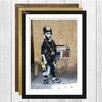 Big Box Art 'Kid with Ghetto Blaster Graffiti' by Banksy Framed Photographic Print