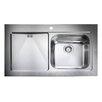 Rangemaster Sink & Taps Mezzo 100cm x 60.5cm Stainless Steel Undermount Kitchen Sink