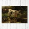 Big Box Art 'Cow by Water' by Willem Maris Painting Print