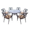 Oakland Living Victoria 7 Piece Dining Set with Cushions