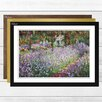 Big Box Art 'Irises in Monets Garden' by Claude Monet Framed Oil Painting Print