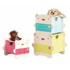 Hello Home BearHug Stacking Kids Bedroom Storage Toy Organizer
