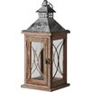 Pacific Lifestyle Kenza Wood/Glass Lantern (Set of 2)