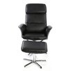 Home Loft Concept Mans Swivel Recliner and Footstool