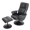 Home Loft Concept Massage Swivel Recliner and Footstool