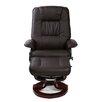 Home Loft Concept Massage Heat Swivel Recliner and Footstool