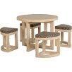 Urban Facettes Essgruppe Wansley mit 4 Stühlen