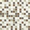"Grayson Martin Concord 0.75"" x 0.75"" Stone and Glass MosaicTile in Peace"