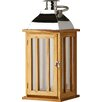 Alpen Home Tozi Chrome and Wood Lantern