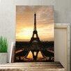 Big Box Art Eiffel Tower Paris France Photographic Print on Canvas