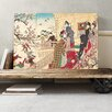 Big Box Art 'Japanese Oriental Plum Blossoms' by Toyohara Chikanobu Painting Print on Canvas