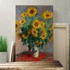 Big Box Art 'Bouquet of Sunflowers' by Claude Monet Painting Print on Canvas