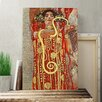 Big Box Art 'Hygeia' by Gustav Klimt Painting Print on Canvas