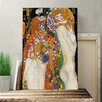 Big Box Art 'Water' by Gustav Klimt Painting Print on Canvas