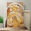 Big Box Art 'Flower Girl' by Alphonse Mucha Painting Print on Canvas