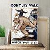 Big Box Art WPA Don't Jay Walk Vintage Advertisement on Canvas