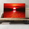 Big Box Art Landscape Red Sunset Photographic Print on Canvas