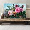 Big Box Art Vintage Floral Flowers Pink Roses Painting Print on Canvas