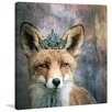 """Marmont Hill """"Queen Fox"""" by Morgan Jones Graphic Art on Wrapped Canvas"""