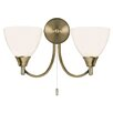 Endon Lighting 2 Light Semi Flush Wall Light