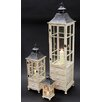 Noor Living 3 Piece Wood Lantern Set