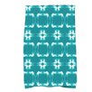 Breakwater Bay Bartow Geometric Print Green/White Hand Towel