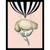 G&C Interiors Balloon Lady Framed Graphic Art in Pink