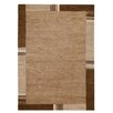 Hazelwood Home Hand-Knotted Brown Area Rug
