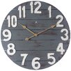 "Laurel Foundry Modern Farmhouse 23.75"" Round Gray/White Wall Clock"