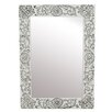 Inart Wooden Wall Mirror