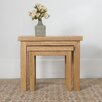 Hazelwood Home Liberty 2 Piece Nest of Tables