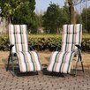 Outsunny Sun Lounger with Cushion (Set of 2)