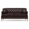 Home Etc Carmen Genuine Leather 3 Seater Sofa