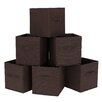 Songmics Foldable Storage Cube Fabric Basket (Set of 6)