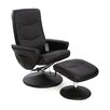 Home Loft Concept Alina Massage Heat Swivel Recliner and Footstool