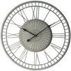 Bungalow Rose Oversized Round Gray Wall Clock