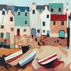 Art Group 'Beached Boats' by Derek Melville Painting Print on Wrapped Canvas