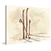 Marmont Hill 'Skis' by Marie-Eve Pharand Painting Print on Wrapped Canvas