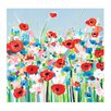 Art Group 'Cornflowers & Poppies' by Janet Bell Painting Print