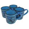 Le Souk Ceramique Sabrine Stoneware Coffee Mug (Set of 4)