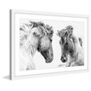 Marmont Hill 'Horse Pair' Framed Painting Print