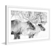 Marmont Hill 'Elk Pair' Framed Painting Print