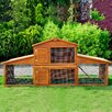 Pawhut Extra Large Animal Hutch with Fully Covered Run Area