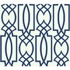 "House of Hampton Coalville Lattice 27' x 27"" Geometric Wallpaper Roll"